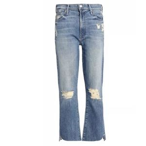 MOTHER superior Sz30 Jeans Insider Crop Step Fray